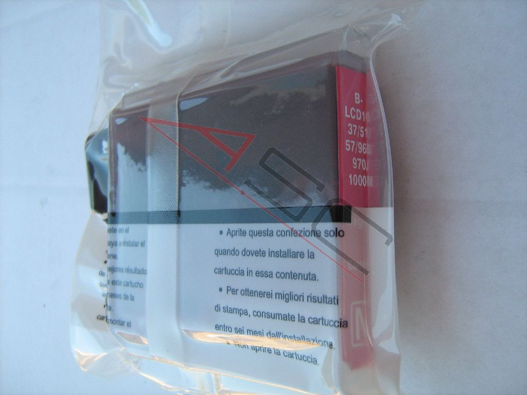 Ink cartridge (alternative) compatible with Brother LC1000 magenta