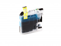 Ink cartridge (alternative) compatible with Brother - LC125XLC/LC-125 XL C - DCP-J 4110 DW cyan