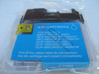 Ink cartridge (alternative) compatible with Brother LC1100 cyan
