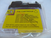 Ink cartridge (alternative) compatible with Brother LC1100 yellow