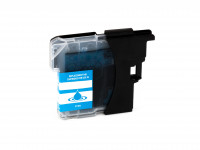 Ink cartridge (alternative) compatible with Brother DCP-J 125/315 W/515 W/MFC-J 220/265 W/410/415 W/615 W LC985C cyan