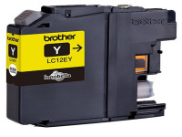 Original Ink cartridge yellow Brother LC12EY yellow